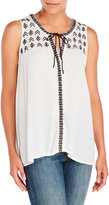 Sanctuary Simone Sleeveless Embroidered Top