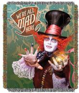"""Disney The Hatter's Mad 48"""" x 60"""" Fringed Tapestry Throw by Northwest"""