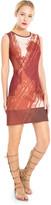 Max Studio Printed Bonded Satin Sleeveless Dress