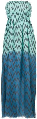 Tara Matthews Capo zig-zag maxi beach dress