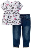 True Religion Lips & Stars Set (Toddler Girls)