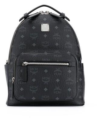 MCM Logo Zipped Backpack