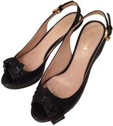 Prada Black Patent leather Mules Clogs
