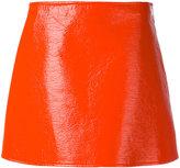 Courreges iconic mini-skirt - women - Cotton/Polyurethane/Acetate/Cupro - 38