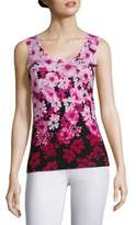 Saks Fifth Avenue COLLECTION Floral Print Shell