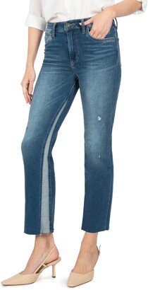 KUT from the Kloth Kelsey High Waist Inset Ankle Flare Jeans
