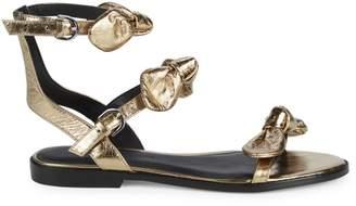 Rebecca Minkoff Shaya Metallic Ankle-Strap Sandals