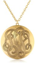 Yochi Gold-Plated Monogram Long Necklace, 36""
