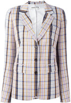 Aalto notched lapel check blazer - women - Viscose/Virgin Wool - 38