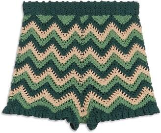 Sandro Mario Crochet Shorts