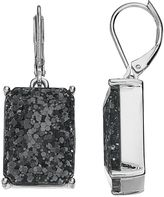 Dana Buchman Glitter Rectangle Drop Earrings