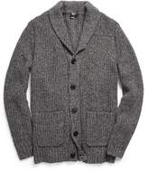 Todd Snyder Oversized Shawl Collar Cardigan in Dark Grey