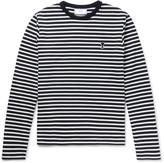 Ami Slim-Fit Striped Cotton-Jersey T-Shirt