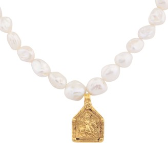 Carousel Jewels Antique Brahmic Cavalry & Baroque Pearl Necklace