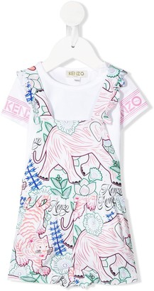 Kenzo ruffled printed T-shirt dress
