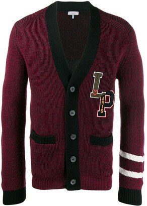 Lanvin ribbed College cardigan
