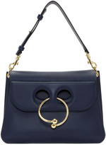 J.W.Anderson Navy Medium Pierce Bag