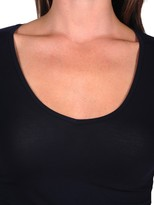 Majestic Long Sleeve V-neck with Finished Trim
