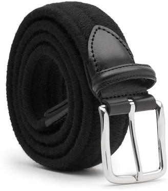 Dalgado Elastic Braided Wool Belt Black Giorgio