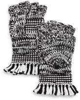 Rebecca Minkoff Mouline Fringe Pop-Top Gloves