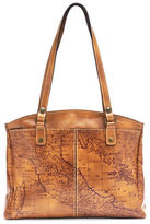 Patricia Nash Poppy Geographic Print Leather Tote