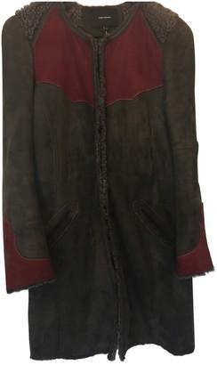 Isabel Marant Grey / Brown Suede Coats