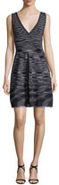 M Missoni Sleeveless Space-Dye Dress, Black