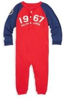 Ralph Lauren Baby's Patched Cotton Henley Coverall