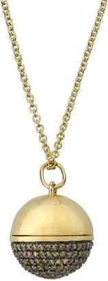 Sydney Evan Ball Locket Pendant Necklace w/ Diamond Pave