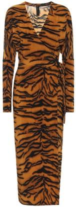 Norma Kamali Exclusive to Mytheresa Tiger-print midi dress