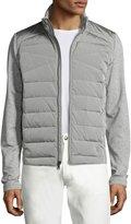 Ralph Lauren French Terry Full Hybrid Jacket, Light Gray