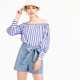 J.Crew Tie-waist short in chambray