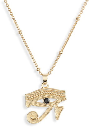 Sterling Forever Egyptian Eye Pendant Necklace