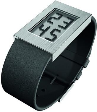 Rosendahl Unisex Digital Quartz Watch with Leather Strap 43270