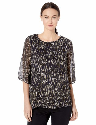 Ronni Nicole Women's Tiered Floral top