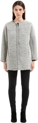 Es'givien Esgivien Bonded Wool Boucle Coat