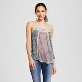 Hint of Mint Women's Embroidered Yoke Tank - Hint of Mint (Juniors') Multicolor