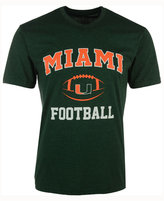 Colosseum Men's Miami Hurricanes Football Arch Logo T-Shirt