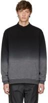 Robert Geller Black and Grey Dip-dyed Sweatshirt