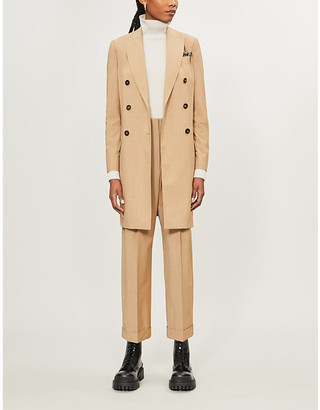 Brunello Cucinelli Double-breasted tailored-fit wool coat