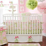 My Baby Sam Pixie Baby 3-Piece Crib Bedding Collection in Pink/Green