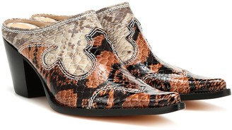 Maryam Nassir Zadeh Romeo snake-effect leather mules
