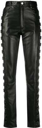 Manokhi High-Waisted Buckled Trousers