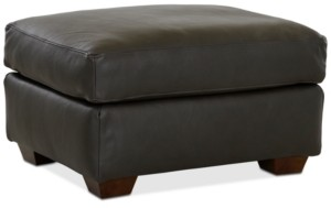 """Furniture Dester 29"""" Leather Ottoman, Created for Macy's"""