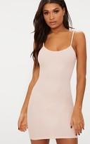 Fashstyl Dusty Pink Crepe Strappy Bodycon Dress