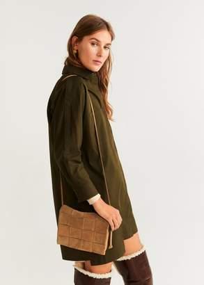MANGO Framework leather bag