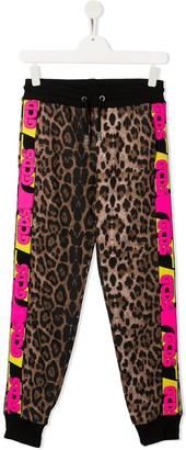 Gcds Kids Leopard Print Trousers
