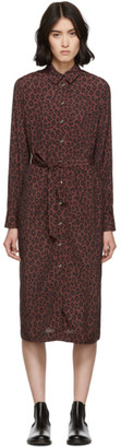 A.P.C. Burgundy Leopard Karen Dress