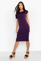 boohoo Cara Cap Sleeve Jersey Bodycon Midi Dress