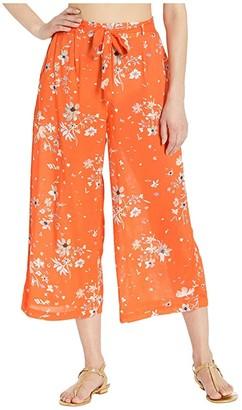Maaji Mandarin Floweret Crop Pants Cover-Up (Mandarin Orange Floral) Women's Swimwear